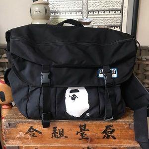 A Bathing Ape BAPE travel messenger bag Rare!